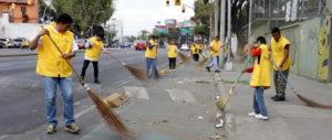 Realizan jornada de limpieza en la México-Tacuba