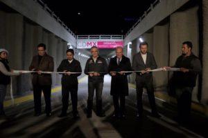 Inaugura GCDMX desnivel en el Periférico Sur