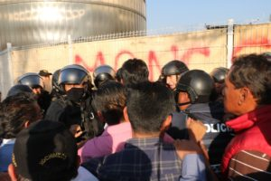 Reprimen en Xochimilco manifestación pacífica co ...
